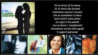 CLAUDIO BAGLIONI - Ninna nanna nanna ninna