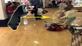Black Friday 2013 fight Stun gun used in black Friday mall - Brawl & Madness Franklin Mill Mall