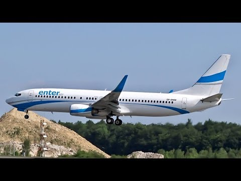 Enter Air – Boeing 737-800 [SP-ENW] Landing in Luxembourg