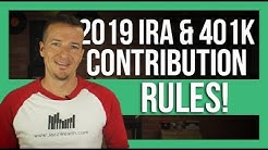 📢 2019 IRA and 401k contribution rules. | The Dough 💲how