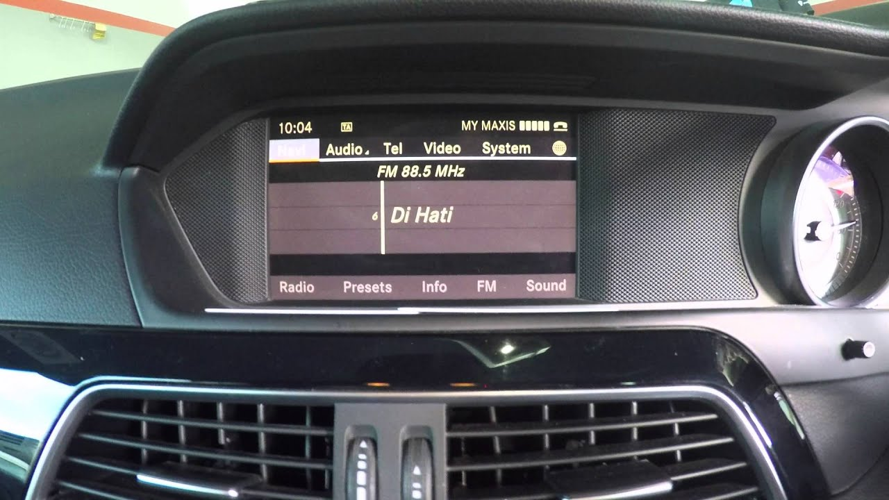 Mercedes C Class (W204) - Fm & GPS conversion from Japan to UK  specifications by JDM Technik