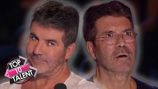 TOP 10 SIMON COWELL Reactions On Got Talent, X Factor And Idol!
