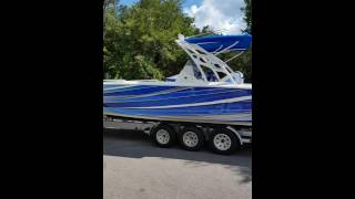 36 foot Concept Boat Wrap by WRAPSTAR