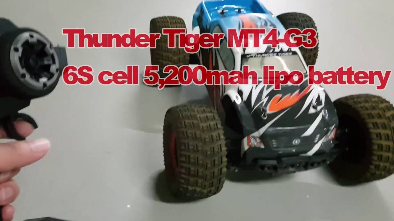 Thunder Tiger Rc Mt4 G3 Monster Truck With 6s Battery