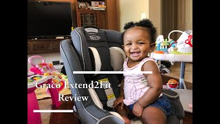 Graco Extend2Fit Review   Convertible Car seat   Mom Vlog