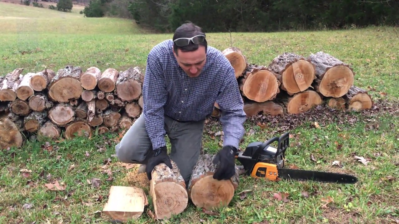 How To Rip Split Firewood With Chainsaw
