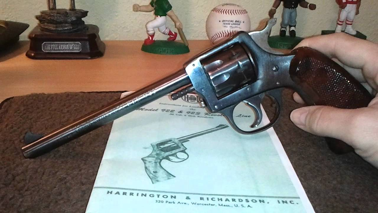 1940'S HARRINGTON & RICHARDSON H&R 922 TARGET .22LR - YouTube