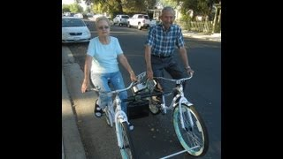 A Bicycle Re-Built for Two: Clovis senior couple ride off into their sunset years together