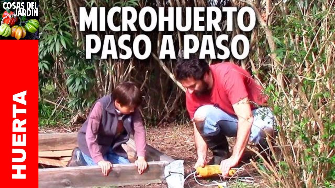 Como hacer un huerto en un cajón de madera, facil, economico y bien explicado bancal metro cuadrado