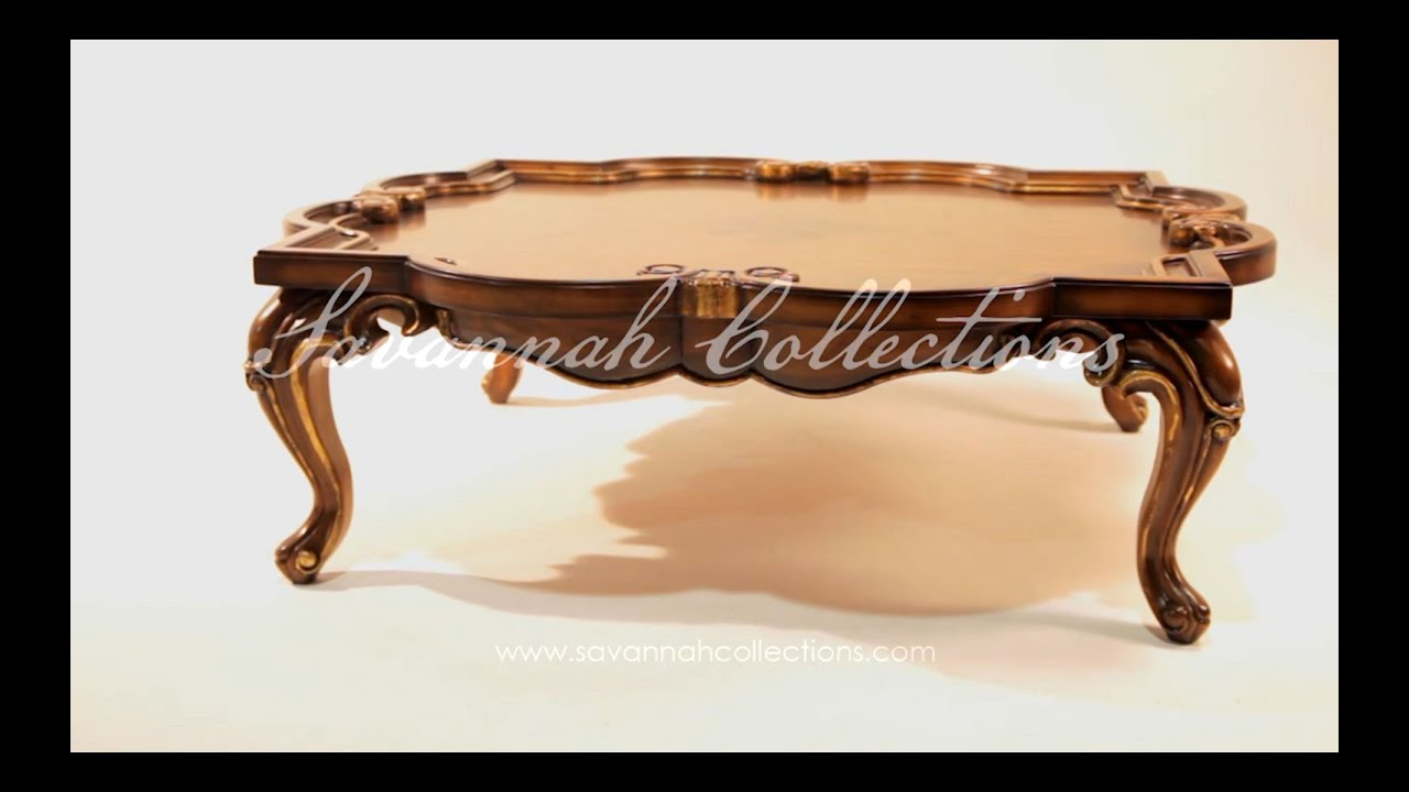 High end coffee table by Savannah Collections Taracea