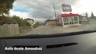 Auto-école Amoudruz. Parcours : Gex, Cessy, Mourex. Partie 1