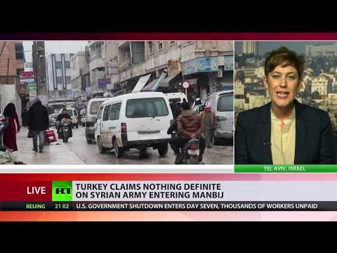 Syrian Army 'raises flag' in Manbij following plea by civilians to secure city