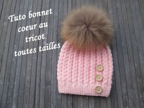 tuto bonnet point coeur au tricot heart beanie hat knitting gorro punto corazon dos agujas youtube. Black Bedroom Furniture Sets. Home Design Ideas