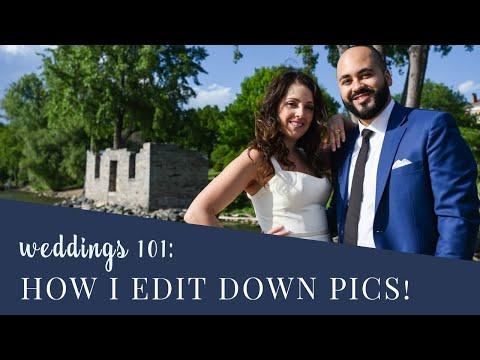 Photography 101: Editing Down Wedding Photos using Lightroom