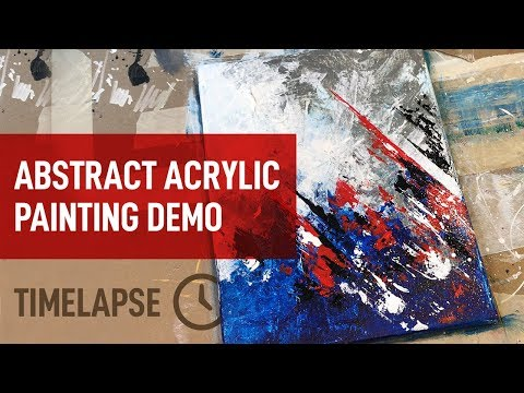 Abstract Acrylic Painting Demo / Timelapse Daily Art / Tutorial / 043 thumbnail