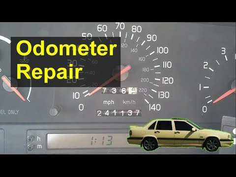 How to replace the odometer gear in your Volvo 850 so it will count miles again. Replacement – REMIX