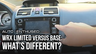 Main differences between the Limited and Base models of the WRX?