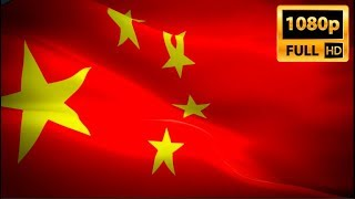 China flag video waving in wind. Realistic Chinese Flag background. Buy China flag HD