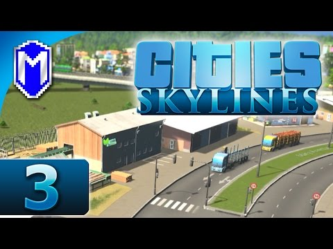 Cities Skylines - Upgrading Roads, Increased Traffic - Let's Play Cities Skylines Gameplay Part 3
