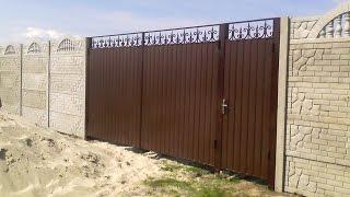 видео Кованые распашные ворота