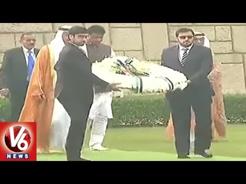 Abu Dhabi Prince Sheikh Mohammed bin Zayed Visits Bapu Ghat | Delhi | V6 News