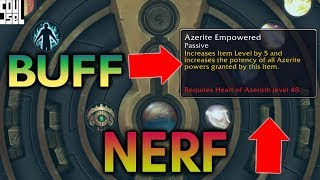 Azerite BUFFS and NERFS Explained - 8.1 Tides of Vengeance PTR World of Warcraft Battle for Azeroth