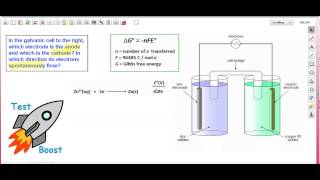 Determining the Anode/Cathode for a Galvanic Cell - Test Boost Inc: AP/SAT Chemistry