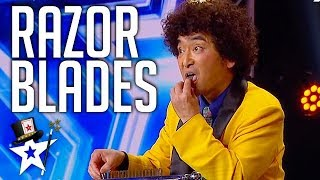 Crazy Magician Is BACK Still Eating Razor Blades on Asia's Got Talent 2019 | Magicians Got Talent