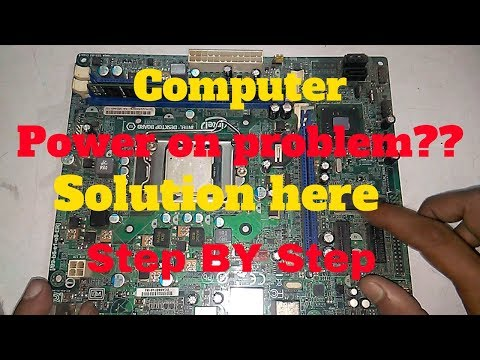 How To Repair No Power Computer Motherboard. Power Supply Troublessooting