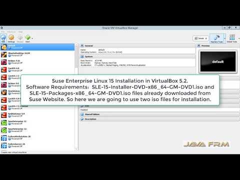 Suse Enterprise Linux 15 Offline Installation in VirtualBox 5 2
