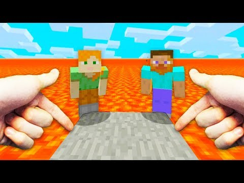 REALISTIC MINECRAFT - STEVE PLAYS THE FLOOR IS LAVA GAME!🔥