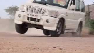 stunt with scorpio car