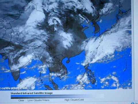 Accuweather Asia satellite infrared image