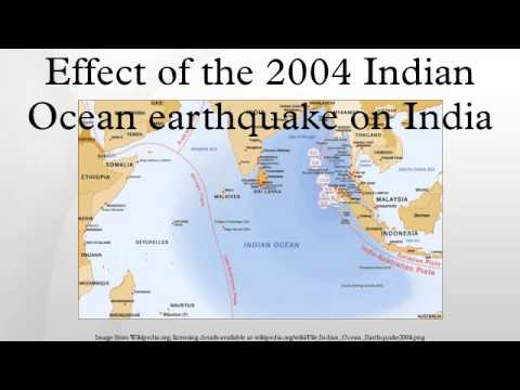 Effect of the 2004 Indian Ocean earthquake on India