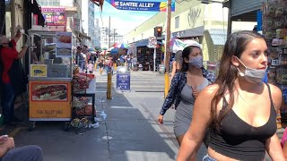 Walking Los Angeles - Santee Alley -Downtown LA, Discount Shopping Area. August 13, 2020