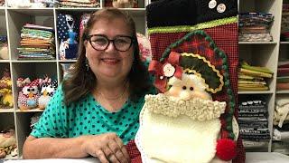 Como Fazer Bota de Papai Noel para Porta