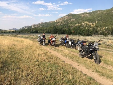 Adventure Motorcycling Wyoming - Laramie Mtns & CRASH