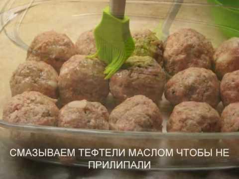 Тефтели с гречкой в духовке