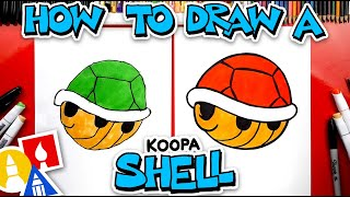 How To Draw A Koopa Shell From Mario