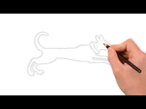 Learning Drawing Dog For Kids | Dog Running Drawing Using Pencil Step By Step For Kids