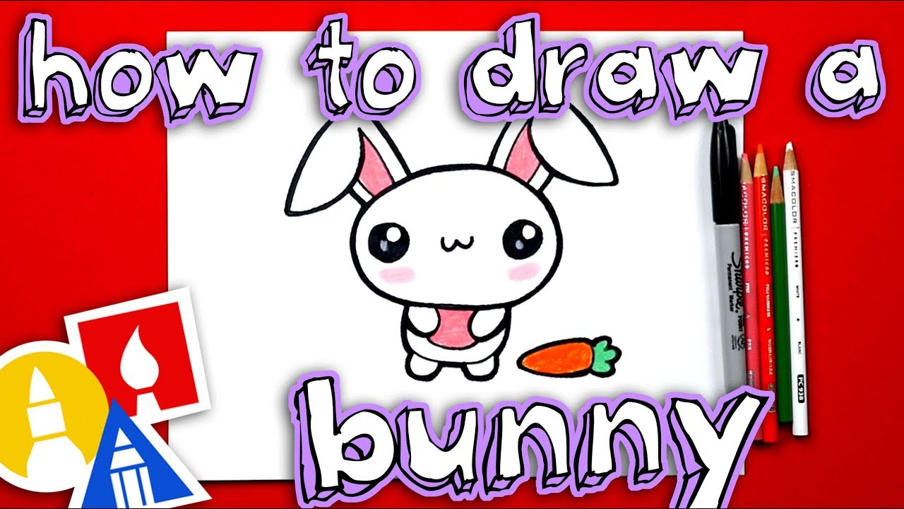 How To Draw The Cutest Easter Bunny Youtube