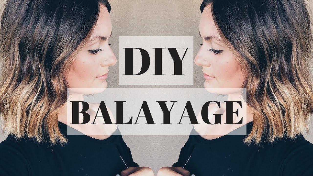 Diy Balayage Teasing Method 2018 Youtube