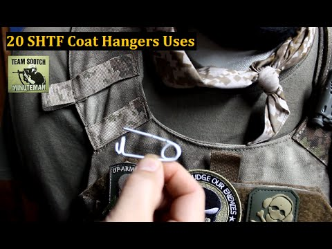 20 Wire Coat Hanger Uses for Survival - YouTube