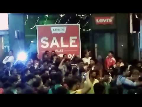 Happy New Year 2017 celebration in MG Road and Brigade Road Bangalore.... India