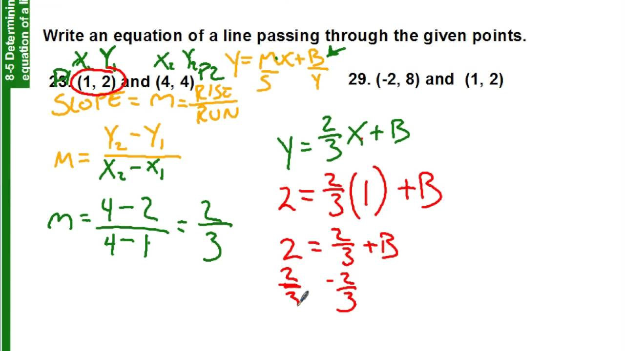 85 How To Find The Equation Of A Line With Two Points