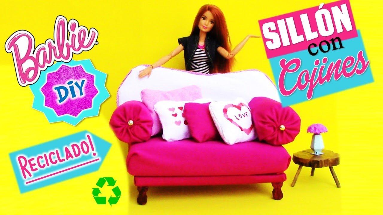 Como hacer sillones sof con cojines para mu ecas barbie - Hacer cojines para sofa ...