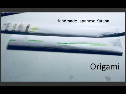Paper made Japanese Katana Sword Tutorial/Origami