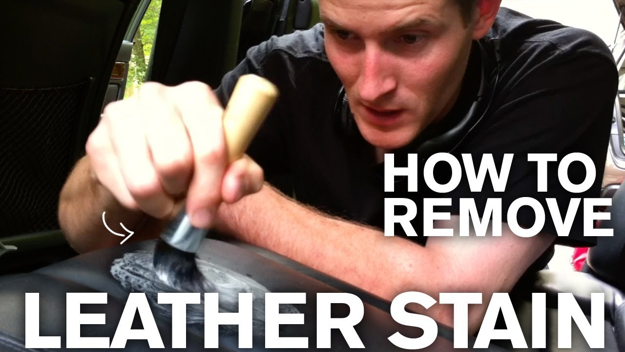 How to remove an old stain from leather youtube How to get stains out of white leather