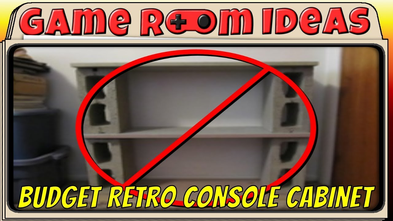 Game Room Ideas Budget Multi Retro Console Media Cabinet YouTube