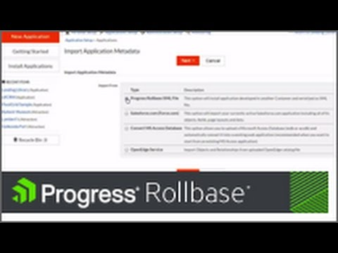 Deploying and distributing Rollbase applications